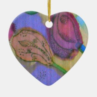 Chistmas Heart Ceramic Ornament
