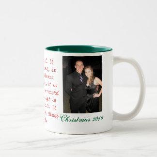 Chistmas Mug/ Love Verse Two-Tone Coffee Mug