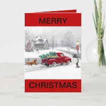 Chistmas on the Farm Christmas Card