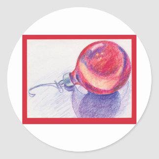 Chistmas Ornament Classic Round Sticker