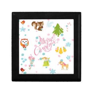 chistmas pattern gift box