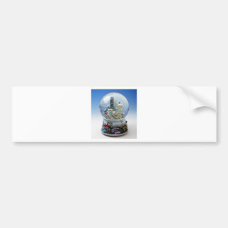 Chistmas Snow Globe Bumper Stickers
