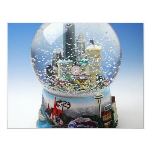 Chistmas Snow Globe Card