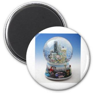 Chistmas Snow Globe Fridge Magnet