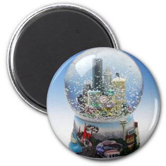 Chistmas Snow Globe Magnet