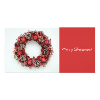 Chistmas wreath Photo Cards