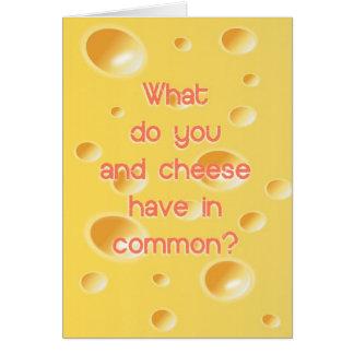 ¿Chistoso qué le hacen y queso tenga en campo comú Tarjeta