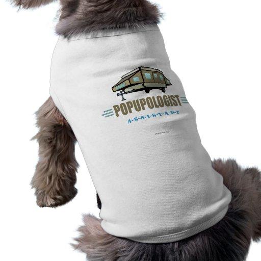 Chistoso surja el campista camisetas de mascota