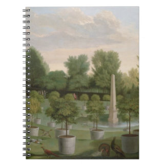 Chiswick House Gardens (oil on canvas) Notebook
