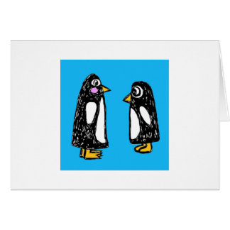 Chit and Chat the Penguins Card