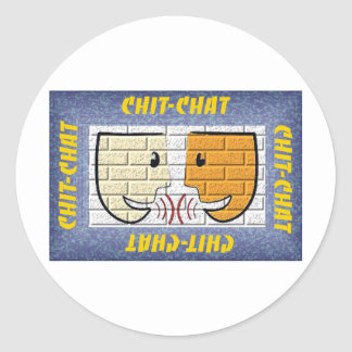 chit-chat classic round sticker