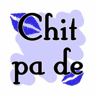 Chit pa de - Burmese - I Love You (3) Blue Kisses. Standing Photo Sculpture