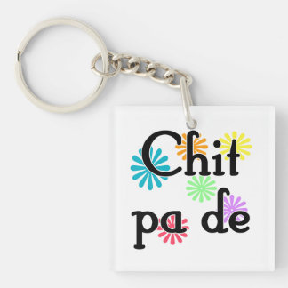 Chit pa de - Burmese - I Love You (3) Flowers.png Single-Sided Square Acrylic Keychain