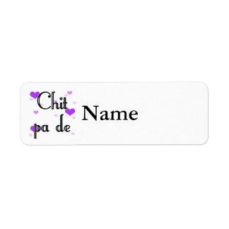 Chit pa de - Burmese - I Love You (4) Purple Heart Label