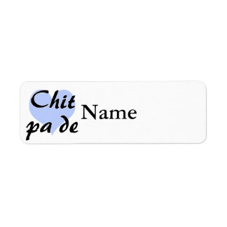 Chit pa de - Burmese - I Love You Blue Heart.png Return Address Label