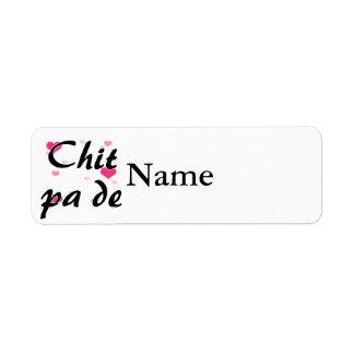 Chit pa de - Burmese - I Love You Pink Hearts.png Return Address Label