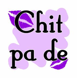 Chit pa de - Burmese - I Love You Purple Kisses (2 Standing Photo Sculpture