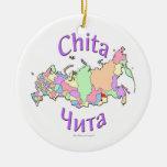 Chita Russia Map Ornament