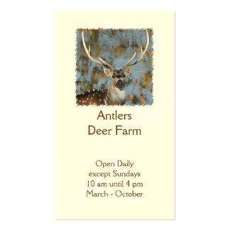 Chital deer farm stag photo business card