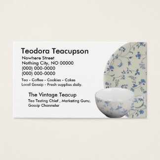 ChitChatPrint TeaCup Business Card
