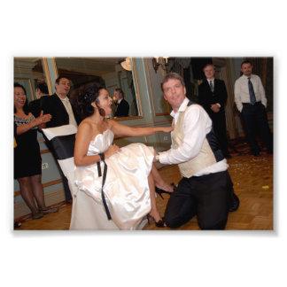 Chitra y Jeffrey: El casarse Impresión Fotográfica