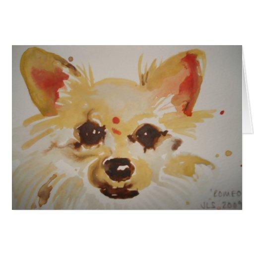 Chiuaua Dog Greeting Card
