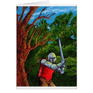 Chivalry Knight Medieval Armor Sword Renfair Greeting Card