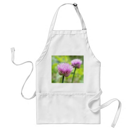 Chive Blossoms Adult Apron