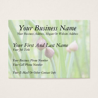 Chive Flower Buds Business Card