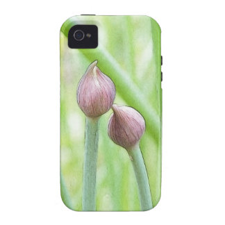 Chive Flower Buds Case-Mate iPhone 4 Cases