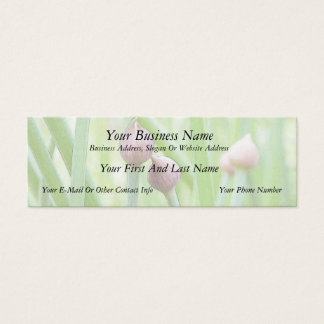 Chive Flower Buds Mini Business Card