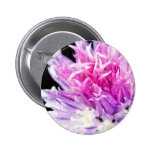 Chive Flower in Oil Pinback Button