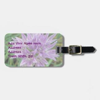 Chive Flowers Allium Schoenoprasum Luggage Tag