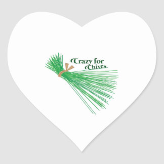 Chives_Crazy For Chives Heart Sticker