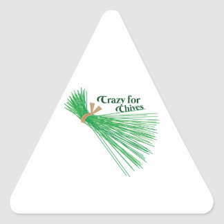 Chives_Crazy For Chives Triangle Sticker