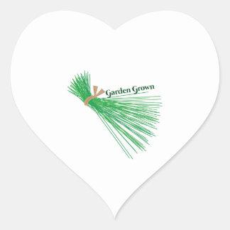 Chives_Garden Grown Heart Sticker