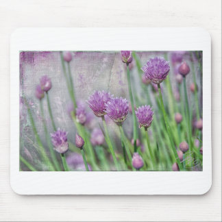 Chives in texture mouse pad