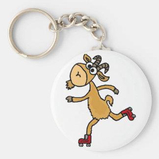 Chivo expiatorio divertido de la cabra del patinaj llavero personalizado