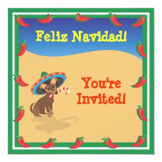 Chiwawa con Sombero, invitaciones del navidad del Invitación 13,3 Cm X 13,3cm
