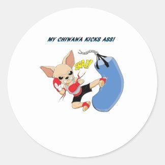 Chiwawa Kickboxer Stickers