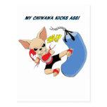 Chiwawa Kickboxer Tarjeta Postal