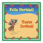 Chiwawa with Sombero, Cactus Christmas Invitations