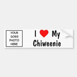 Chiweenie Bumper Sticker