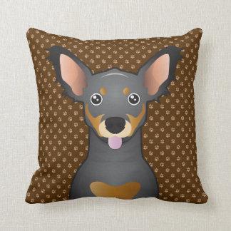 Chiweenie Dog Cartoon Paws Pillow