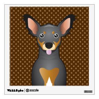 Chiweenie Dog Cartoon Paws Wall Decal
