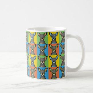 Chiweenie Dog Cartoon Pop-Art Classic White Coffee Mug