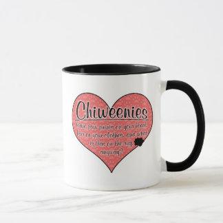 Chiweenie Paw Prints Dog Humor Mug
