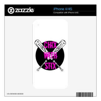 Chix with Stix Decals For The iPhone 4S