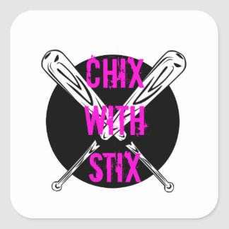 Chix with Stix Square Sticker