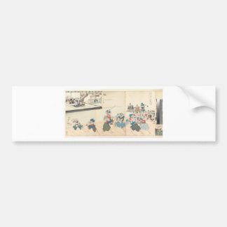 Chiyoda Castle (Album of Men) Toyohara Chikanobu Car Bumper Sticker